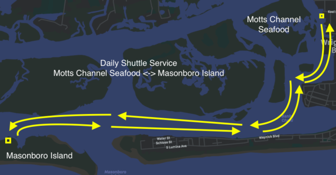 Map of the island shuttle tour