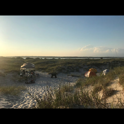 Camper's tents on Masonboro-Island