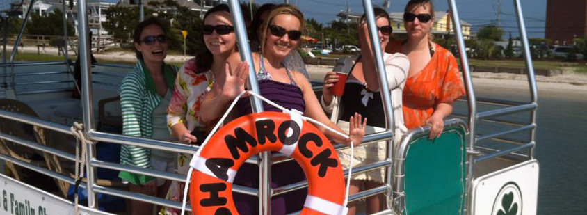 Wrightsville Beach Scenic Tours Guests on the Shamrock